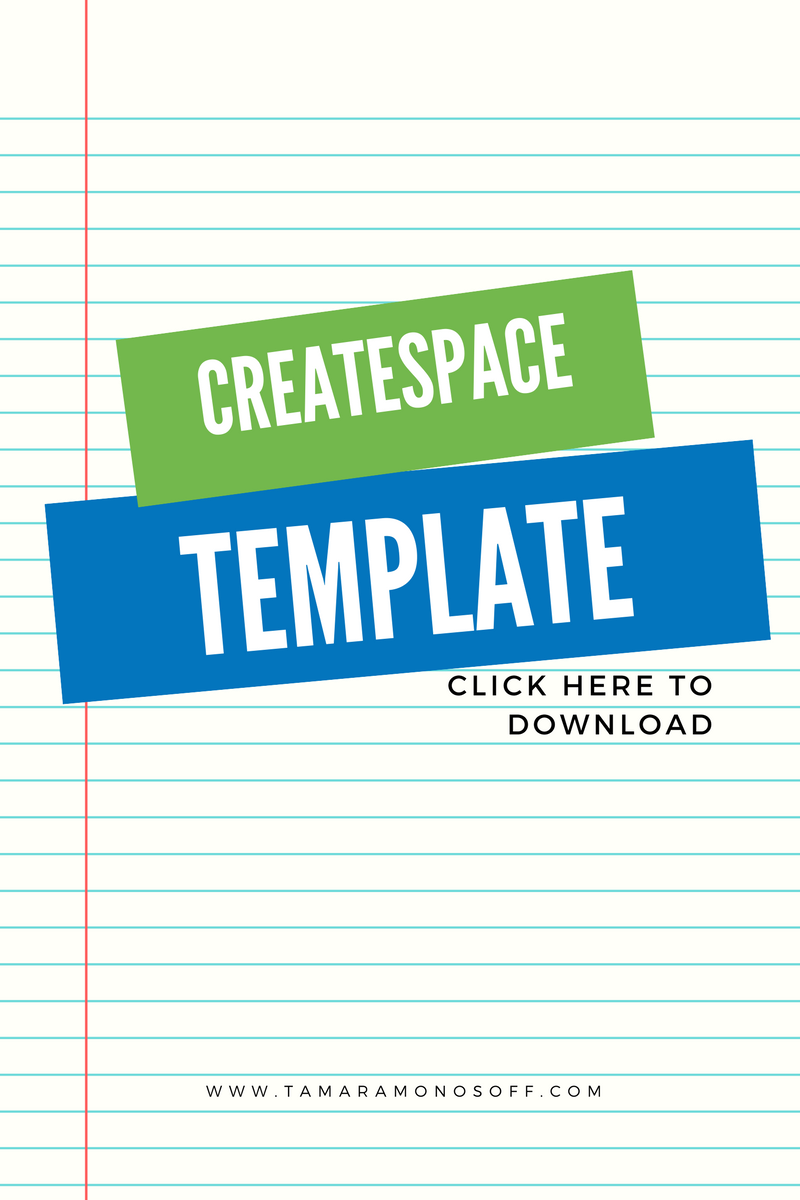 Pre-Formatted CreateSpace Template for Printed Books! - Tamara ...